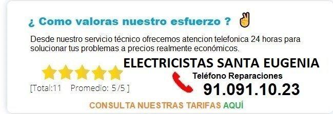 electricistas santa eugenia precios